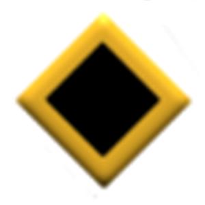 SFMC Enlisted Diamond with Black Diamond Center